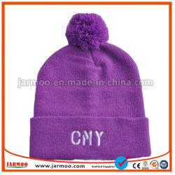 Sombrero de invierno Beanies tejido hecho personalizado con logotipo bordado