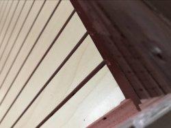 Panneau de lamelles en bois MDF perforé acoustique