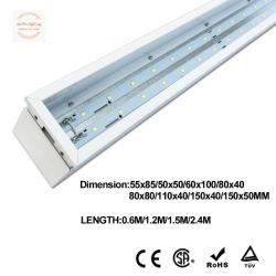 LED encastré plafond suspendu avec Lumière linéaire double faces l'éclairage de décoration lumière intérieure