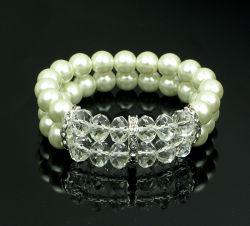 Il cristallo dei monili di alta qualità lapida il braccialetto della perla del braccialetto