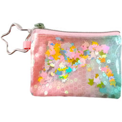 Venda por grosso Grils Lantejoulas Unicórnio Chaveiro Mini Wallet saco de moedas