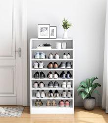 Moderner Entwurfs-Ausgangshölzerne Möbel-Bildschirmanzeige-Schuh-Schrank-/Shoe-Zahnstange