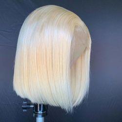 Основная часть цены индийского Virgin блондинка прелестная Боб кружева передней парики