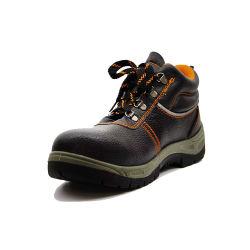 Parte superior de cuero gamuza de vaca, suela PU, Estándar casco de seguridad Calzado de Seguridad Venta caliente Zapatos de seguridad de corte bajo el calzado con puntera de acero