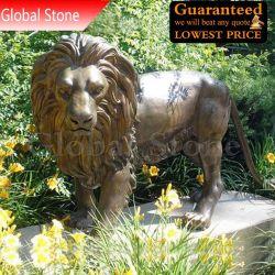 Estátua Animal personalizadas Curta Leão de bronze para decoração de jardim (GSBR-114)