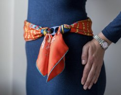 وشاح حرير عتيق مصنوع يدويًا لحزام الخصر الخاص بالمرأة وحزام الفستان، بحجم مجاني