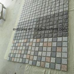 Teppich-Mischfarben-Granit-Kopfstein Zurück-Netz Straßenbetoniermaschine-Fliesen für Fahrstraße, Gehweg und Patio