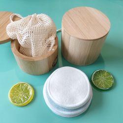 Espelho reutilizáveis Pastilhas Removedor de algodão de bambu pastilhas de rosto amigo do ambiente e laváveis Variety Pack