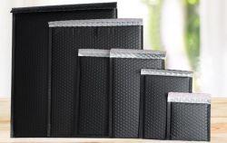 Commerce de gros de l'enveloppe matelassée personnalisée Custom imprimé en noir mat Aluminium bulle métallique Mailers avec logo