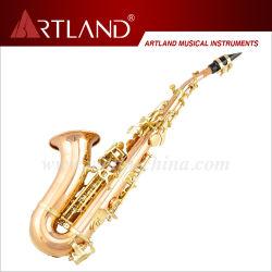 Rose saxophone soprano courbé en laiton (SCA6506)