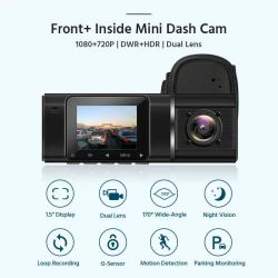 X1500 de Draaibare Nok van de Lens HD van WiFi van het Scherm van 1.5 Duim Kleine Dubbele