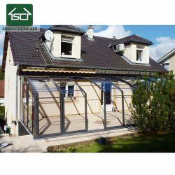 Arc Jardin Salle de Sun auvent en aluminium avec panneau de carbonate de polyester