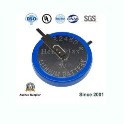 Lötfahne Henli Max CR2450 primäre 3V Lithium-Knopfzelle Knopfzelle Knopfzelle für Fernbedienung, Uhr, Rechner, elektronisches Notebook.