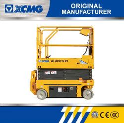 XCMG Xg0807HD 7.8m 電気工事安価な油圧式シザーリフトアンテナ 作業プラットフォーム