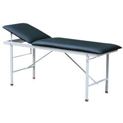 X09-1 mesa de examen con superficie de cuero de PU y almohada