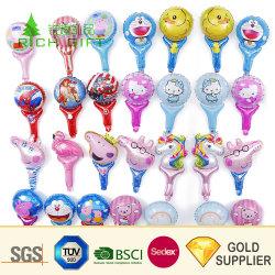 Großhandel Custom Inkjet Painted Aufblasbare Mylar Aluminium Folie Kinder Spiel Spielzeug Weihnachten schöne rosa Ballon Cartoon Charakter Helium Ballons für Werbung