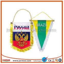 O Clube de Futebol impresso personalizado novo galhardete de promoção do intercâmbio de bandeiras amarelas