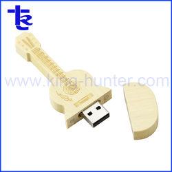 Azionamento di legno musicale del pollice del bastone di memoria Flash del USB della chitarra dell'OEM