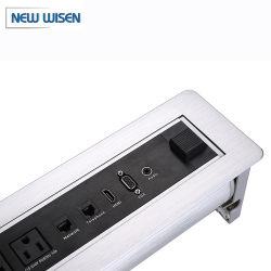 Sala riunioni di alta qualità tavolo da conferenza socket desktop Hidden Design Presa elettrica ribaltabile