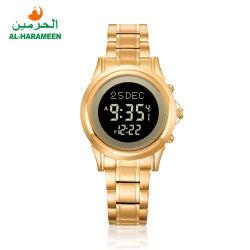 2020 neuer Entwurfs-Frauen-Mann-Saphir Qibla moslemische Digital Paar-Armbanduhr