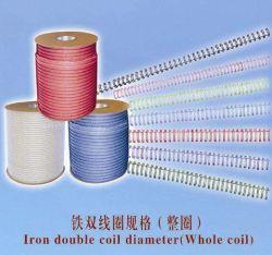 Оптовая торговля высококачественный нейлон с покрытием с двойной обратной связью Twin Кольцо провод