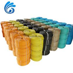 Hochgestraftete PE/PP/Polyster/Nylon 3/4/6/8/24/32 doppelt geflochten und verdreht für Angeln/Marine/Festmacherei/Verpackung /Landwirtschaft Seil mit besten Preis