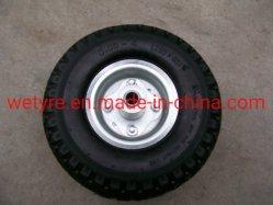 Hoge laadcapaciteit van goede kwaliteit flexibele, makkelijk bewegende metalen velg PU Schuimwiel (3.00-4)