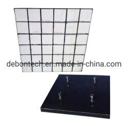 Bénéficiant d'acier goulotte composite en céramique en caoutchouc de chemise de prix d'usure