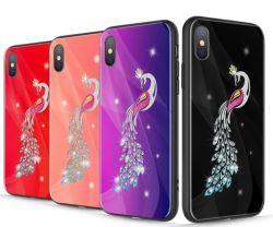 Harter TPU Gummischein-glänzender Funkeln Bling Fall-Deckel für iPhone X