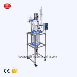 Dispositivo de destilação de produtos químicos utilizados reator de mistura de vidro