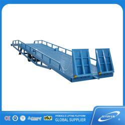 12t contenedor de carga y descarga de la rampa de carga rampas hidráulicas Patio móvil
