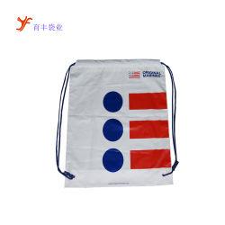 Водонепроницаемый CPE /PE два слоя пластика кулиской рюкзак сумки с логотипом для плавания