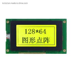 20 ピン産業用グレード 3.2 インチ LCD 128x64 Stn ディスプレイ LED バックライト 12864 黄色 - 緑色 LCD モジュール、グラフィック S6b0107 コントローラパネル付き