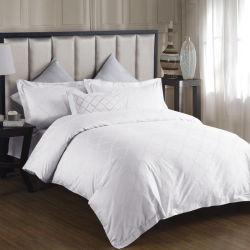 Van het Katoenen van het Beddegoed van het Satijn van het Hotel van de kwaliteit de Vastgestelde Witte Volledige Reeks van het Blad Bed van het Hotel (JRD995)