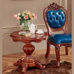 Mesa de Café com sofá de couro Cadeira de móveis domésticos (710)
