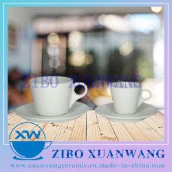 Multi Tasse en céramique blanche de taille et la plaque du matériel en porcelaine Café Tasse et soucoupe
