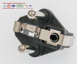 Europäischer Stecker Vde-Schuko (inneres Teil des Steckers mit drei Zinken, der 4.8mm Plastikteil mit Messingeinlage)