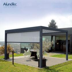 Veranda motorizado resistente al agua personalizada pérgola cubierta con la rejilla lateral