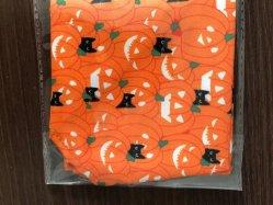 Hallooween Dreieck Schal gedruckte Skelenton lustige orange Zubehör-Hunde