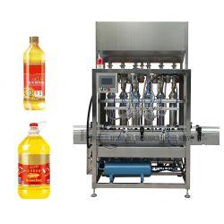 Pas de Bottelmachine van de Olie van Shanghai/de Capsuleermachine van de Vuller van de Olie, de Eetbare Tafelolie/Olijf/het Vullen van de Olie van de Zonnebloem het Afdekken Machine van de Verpakking, de Lijn van de Machine van het Flessenvullen van de Olie aan
