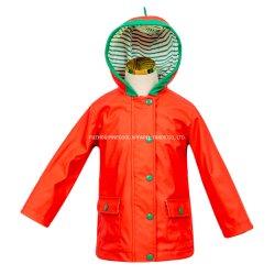 Pastèque rouge Rainning Kid à manchon long PU Veste avec capot