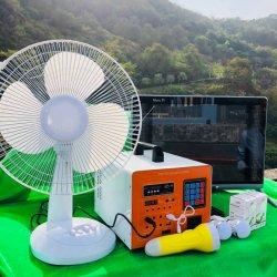 Lohn, wie Sie beleuchtende Solarinstallationssätze weg von Rasterfeld Solar-PV-Energien-Energie-Systems-Ausgangseingebauter Inverter-Controller-Batterie mit Radio-MP3 Kartenleser-Lautsprecher bewegliche gehen