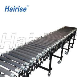 Haiirise Box polia livre flexível correia plástica fornecedores Gravity Roller Conveyor Certificado ISO wtih