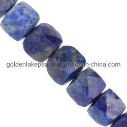 Azul Lapislázuli cubo facetada 4mm