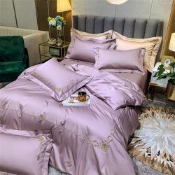 140 나사산 세트, 면 자수, 침구세트 침대 스프레드 커버용