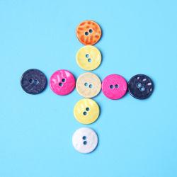 새로운 디자인 형식 주문 세라믹 덮은 2개의 구멍 단추 플라스틱