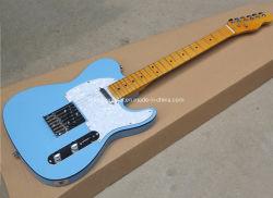 Guitarra eléctrica de azul, blanco perlados Pickguard negro, órgano de enlace