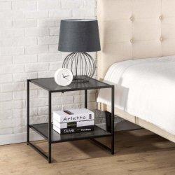 Il nero moderno della mobilia della camera da letto del quadrato da 20 pollici