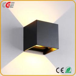 Aluminio LED LUZ DE PARED LED cuadrado proyecto ferroviario de Lampara de pared Dormitorio Sala de cabecera de las Artes Decoración de pared