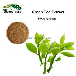 100% Natural para uso alimentario extracto de té verde el extracto de hojas de té verde